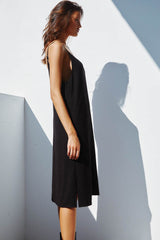 TUESDAY SLIP DRESS | BLACK