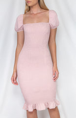 DAHLIA BODYCON DRESS | BLUSH PINK