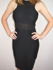 Blurred Lines Dress Black - SALE