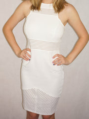 Blurred Lines Dress White -SALE