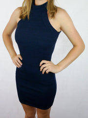 Lover Bodycon Dress Navy - SALE