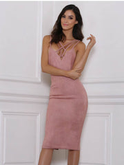Renee Suede Midi Dress - SALE