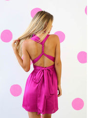 Tie It Your Way Party Dress Fuchsia Pink - SALE