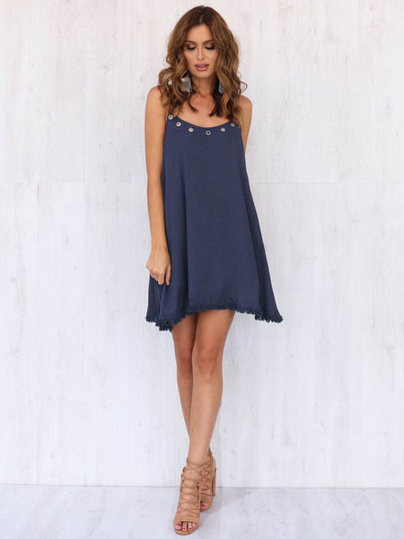 Harlow Dress NAVY REDUCED was $72 now $19