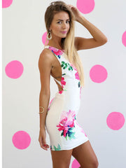 Enchanted Mini Dress Pink Floral - SALE
