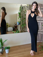 Eyes On Me Maxi Dress Black - SALE