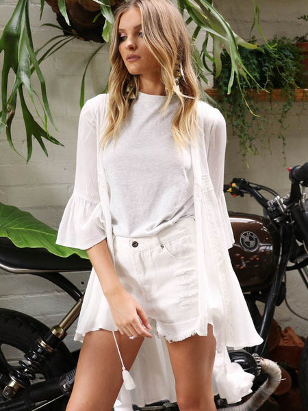 Half Moon Cape | White - SALE