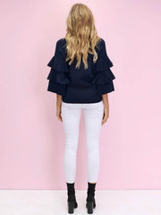 Play For Keeps Knit | NAVY REDUCED was $72 now $59