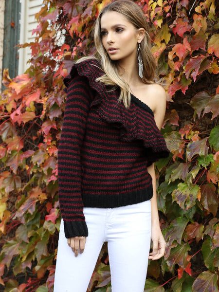 Valencia Ruffle Knit Shiraz REDUCED was $89 now $39