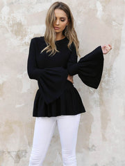 Savannah Crepe Top | BLACK