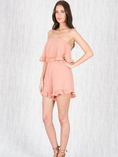Peaches & Cream Playsuit | PEACH - SALE