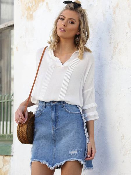 California Denim Skirt -SALE