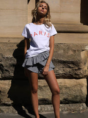 Paris Tee | White