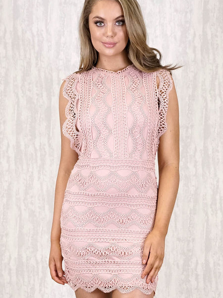 Faith Lace Dress | BLUSH PINK - SALE