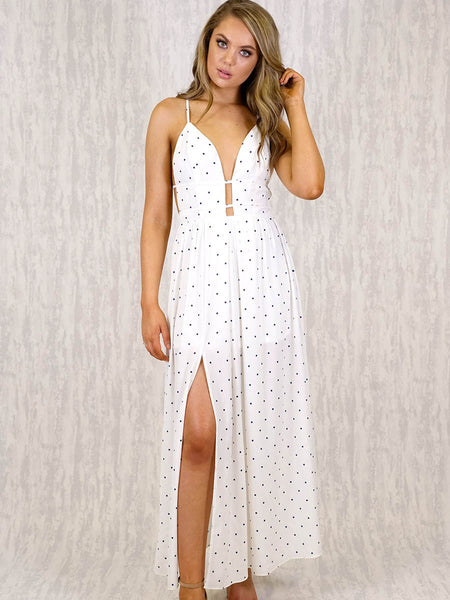 Paige Maxi Dress  | WHITE