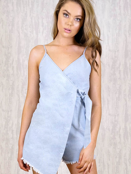 Piper Playsuit Denim | LIGHT DENIM - SALE