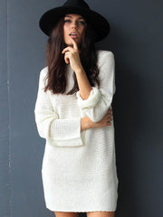 Ari Knitted Tunic White - SALE