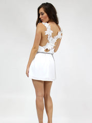 Elle Crochet Dress White - SALE