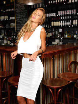 Cosmopolitan Skirt White - SALE
