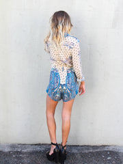 Gone Riding Playsuit Print - SALE