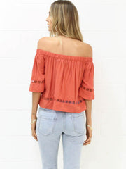 Off The Shoulder Tracking Top | RUST - SALE