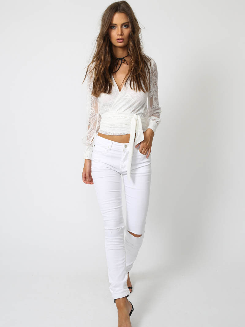 Gigi Jeans White - SALE
