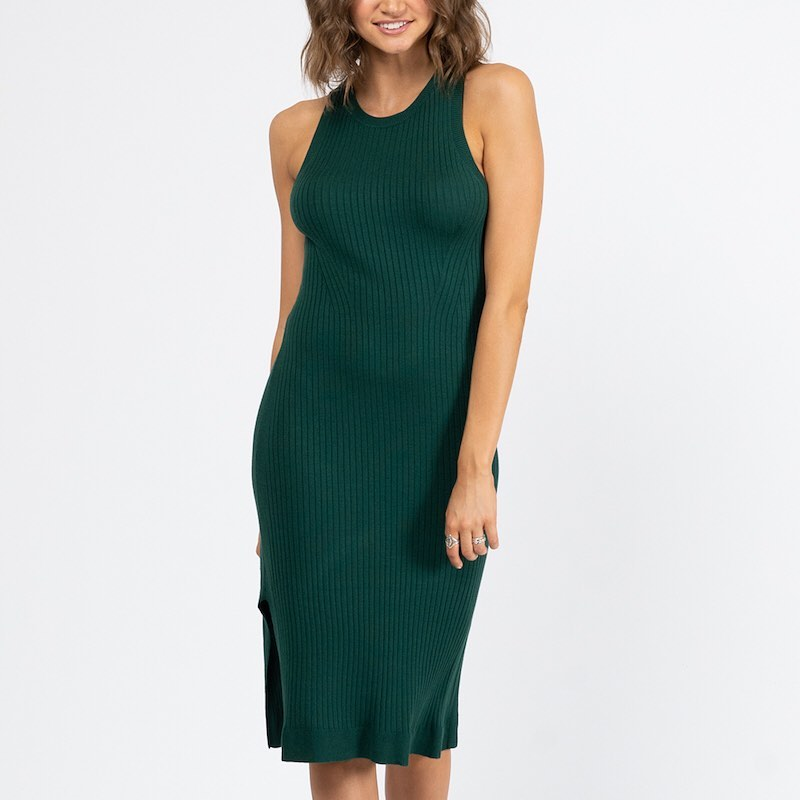 INDIA KNIT DRESS | GREEN