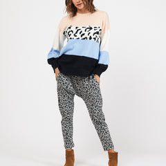 EVIE KNIT | BLOCK LEOPARD - SALE
