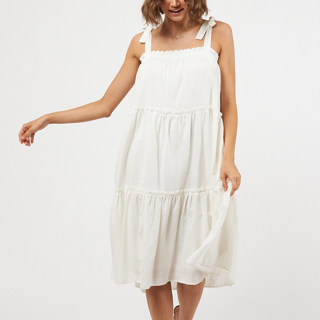 TAYLAH DRESS | WHITE