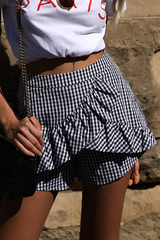 Paris Shorts | Black & White - SALE