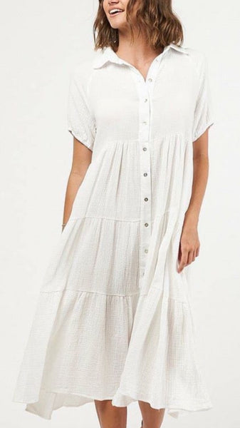 KIRA DRESS | WHITE - SALE