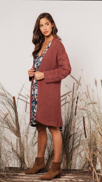 FARRAH CARDIGAN | BRICK - SALE