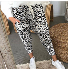 AURELIA DROP CROTCH PANTS | ANIMAL PRINT - SALE