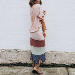 ARIA KNIT SKIRT | MULTI