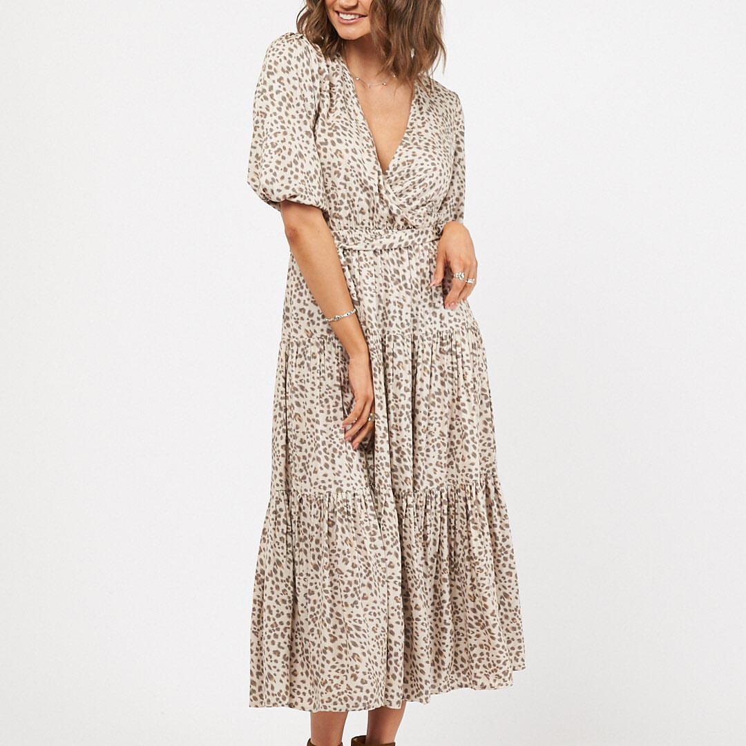 WILD CAT MAXI DRESS | LEOPARD PRINT