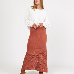ISLA KNIT SKIRT | RUST - SALE