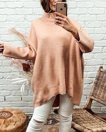QUINCY KNIT | PEACHY PINK -SALE