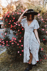 DESERT ROSE WRAP DRESS | PRINT