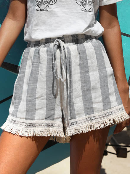 Sunset Shorts | Blue Stripe