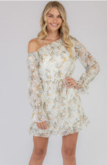 WINTER ROSE DRESS | WHITE FLORAL