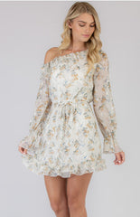 WINTER ROSE DRESS | WHITE FLORAL - SALE