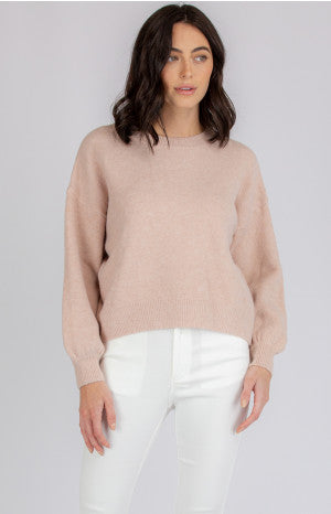 LUCIA BUBBLE SLEEVE KNIT | BLUSH - SALE
