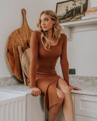 TOFFEE KNIT DRESS