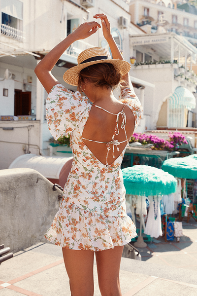 MARIGOLD DRESS | WHITE FLORAL