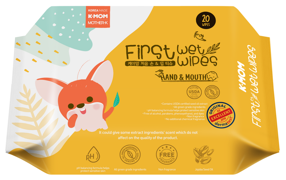 First Hand & Mouth Wet Wipes (20pcs)