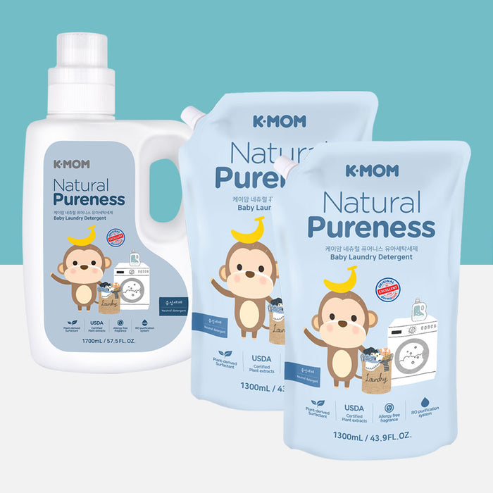 Natural Pureness Baby Laundry Detergent USDA Organic (Bottle + Refill)