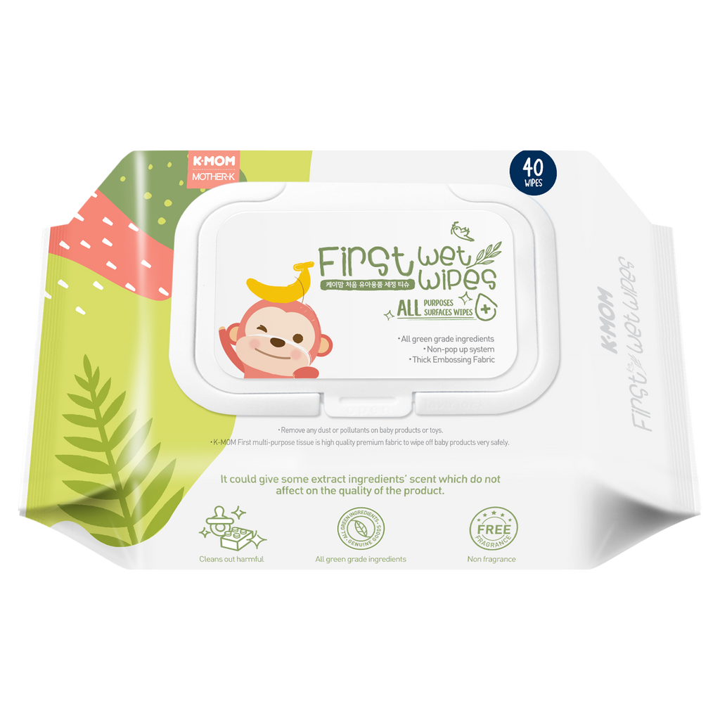 K-Mom First All Purposes Surfaces Wet Wipes