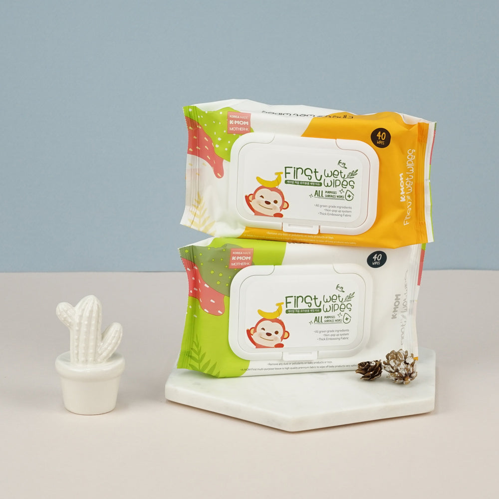 **FREE Sanitizer Spray 100ml** First All Purposes Surfaces Wet Wipes (40pcs) [Sanitizer Wipes, contains ethanol]