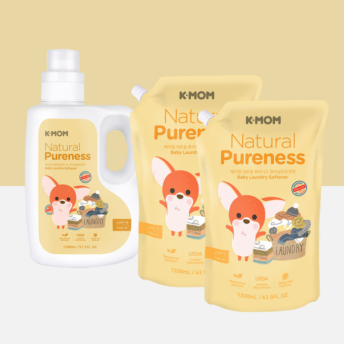 [Pre-Order] Natural Pureness Baby Fabric Softener (Bottle + Refill)