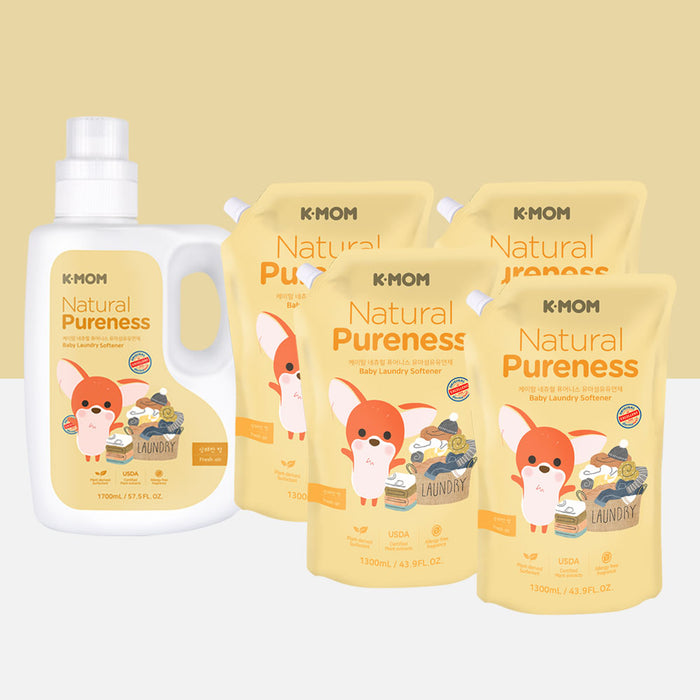 Natural Pureness Baby Fabric Softener (Bottle + Refill)